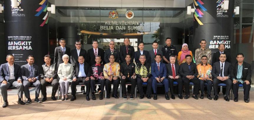 Mesyuarat Jawatankuasa Tertinggi Sukan Malaysia yang telah berlansung pada 8 Februari lepas dipengerusikan Menteri Belia dan Sukan, Khairy Jamaluddin Abu Bakar. Kredit Foto - Bharian.com.my