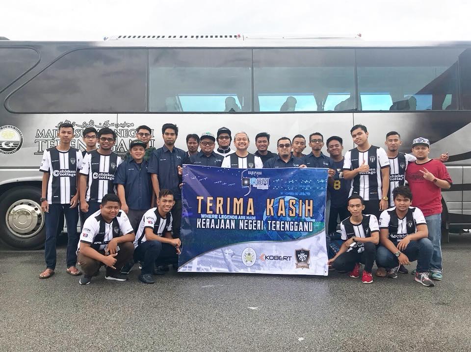 Kerajaan negeri Terengganu melalui Majlis Sukan Negeri Terengganu turut telah memberi tajaan logistik dan kemudahan lain kepada ESM Terengganu bagi menghadapi kejohanan di pentas kebangsaan. Kredit Foto - Facebook.com/esmterengganu