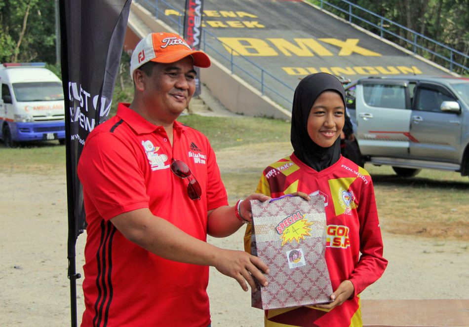 20180818-Kejohanan BMX MPD 2018 Podium - Bawah 15 tahun Perempuan - Jaziera Junaidi. Kredit Foto - PenyuSukan.com