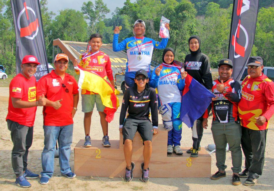 Kejohanan BMX Majlis Perbandaran Dungun 2018 - Wanita Terbuka - Pemenang Podium