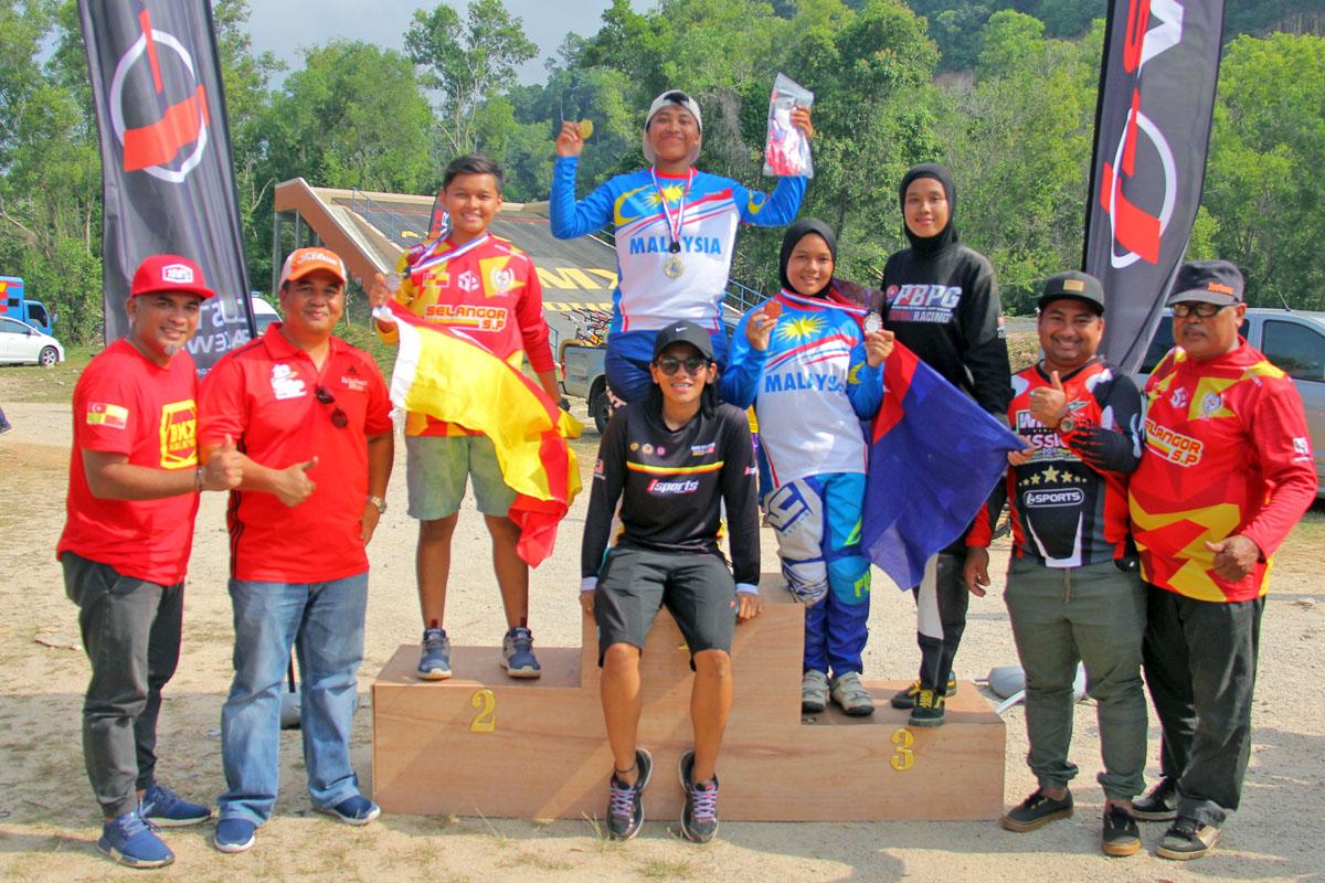20180818-Kejohanan BMX MPD 2018 Podium - Wanita Terbuka. Kredit Foto - PenyuSukan.com