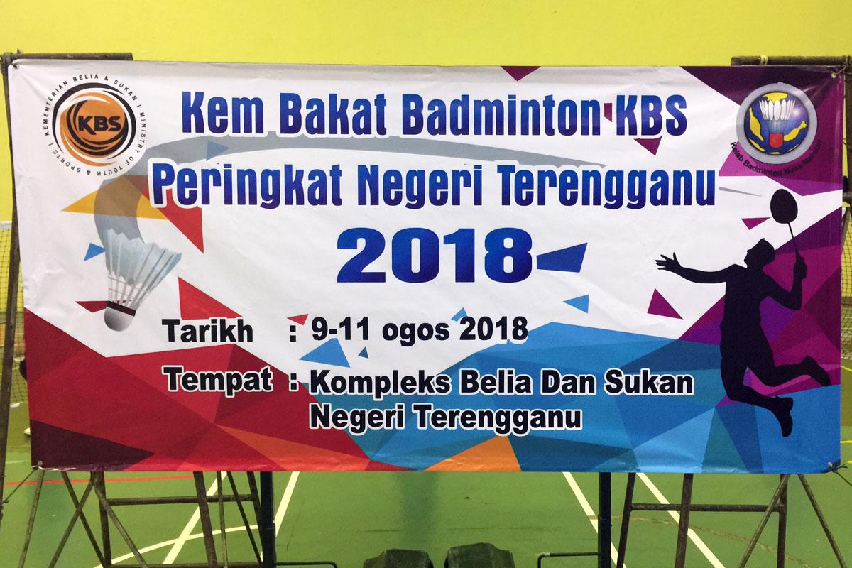 Program Kem Bakat Badminton KBS Peringkat Negeri Terengganu 2018 yang telah berlansung selama 3 hari bermula pada 9 hingga 11 Ogos 2018 bertempat di Jabatan Belia dan Sukan Negeri Terengganu. Kredit Foto - PenyuSukan.com