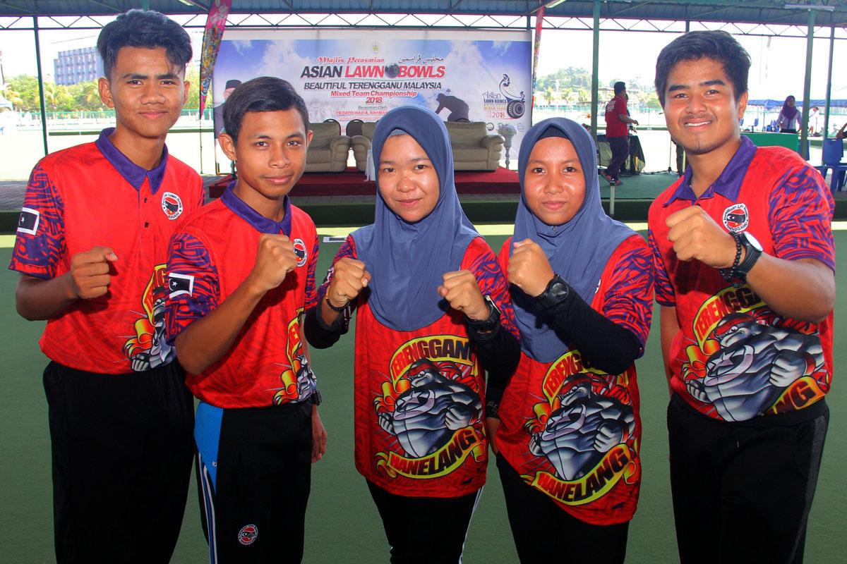 Barisan atlet boling padang negeri Terengganu yang bakal berentap di temasya Sukan Malaysia(SUKMA) di Perak nanti. Kredit Foto - PenyuSukan.com