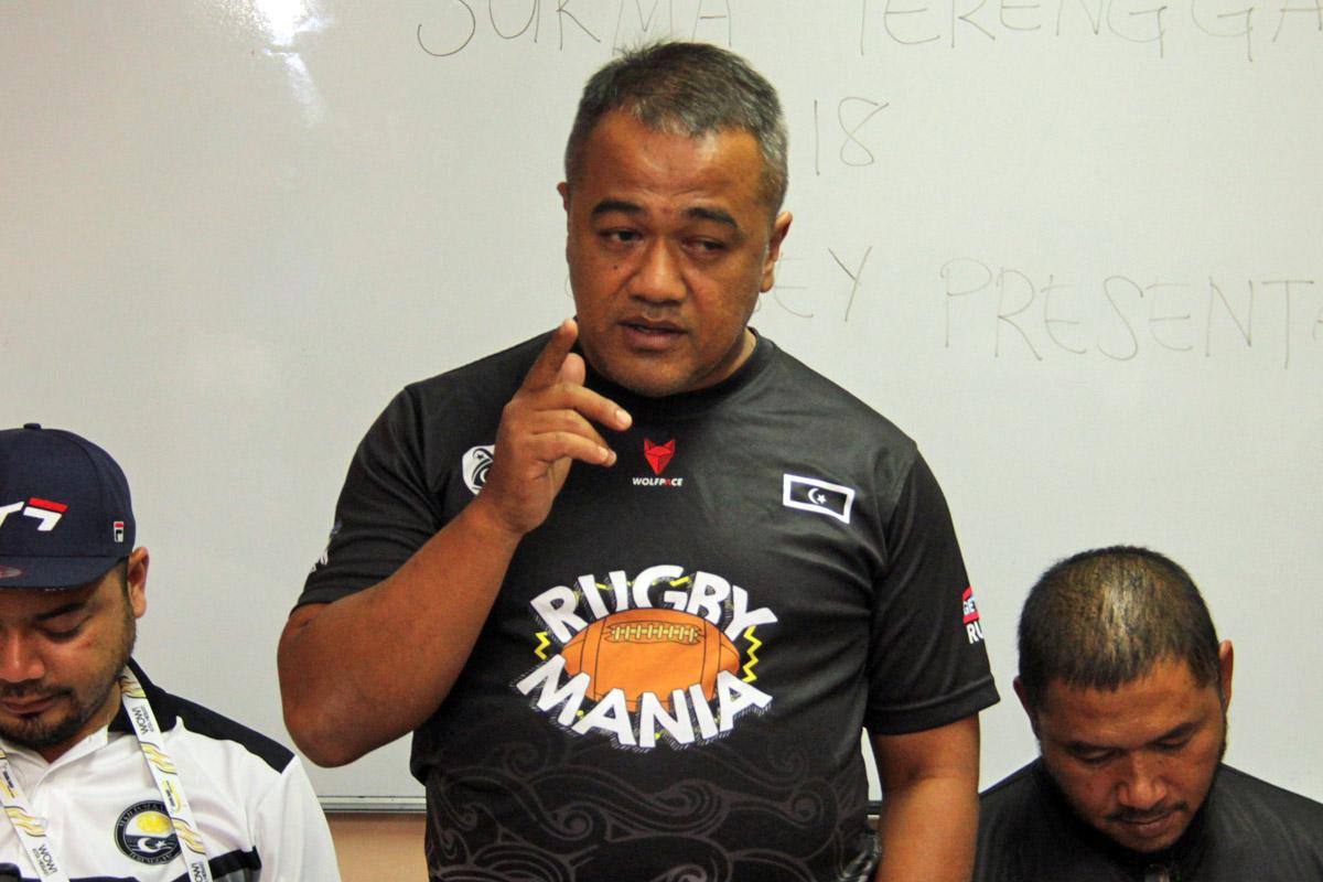 Yang Dipertua Persatuan Ragbi Negeri Terengganu; Amir Amri Muhammad. Kredit Foto - PenyuSukan.com