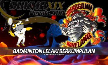 SUKMA2018: Pasukan Badminton Lelaki Terima Cabaran Pertama