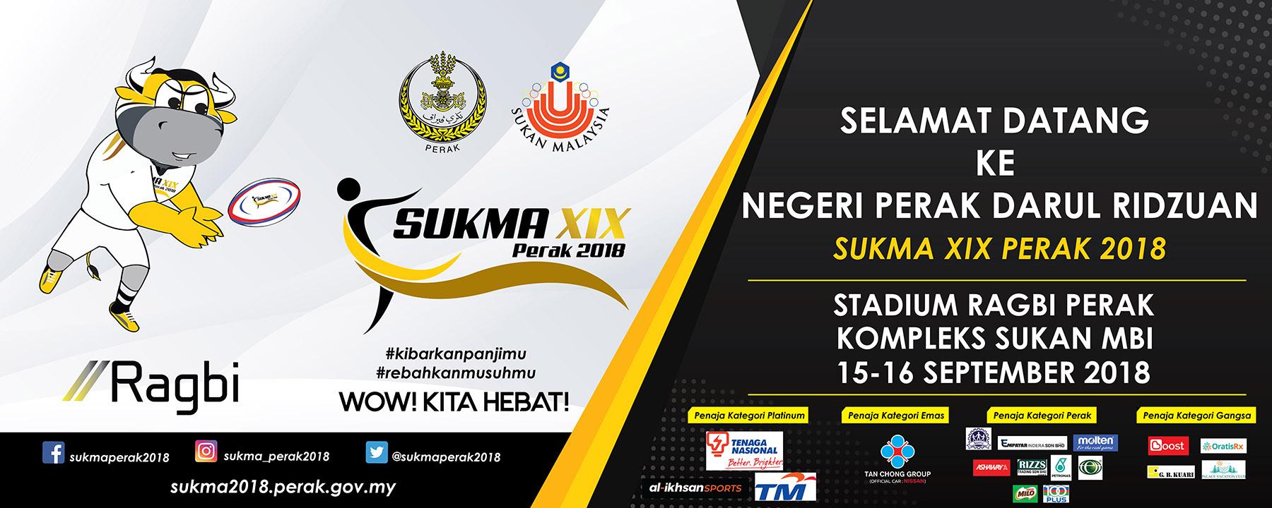 PenyuSukandotcom - Maskot Sukan Ragbi 7 Sepasukan SUKMA Perak 2018
