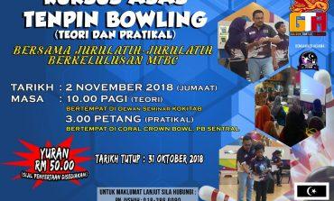 Kursus Asas Tenpin Bowling 2018