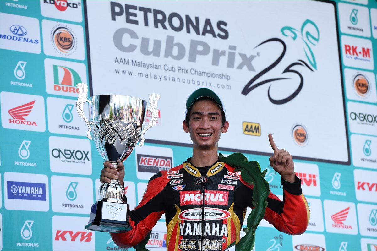Pelumba kelahiran Terengganu, Tengku Amirul Haffirudin (Motul Zeneos Yamaha YY Pang).