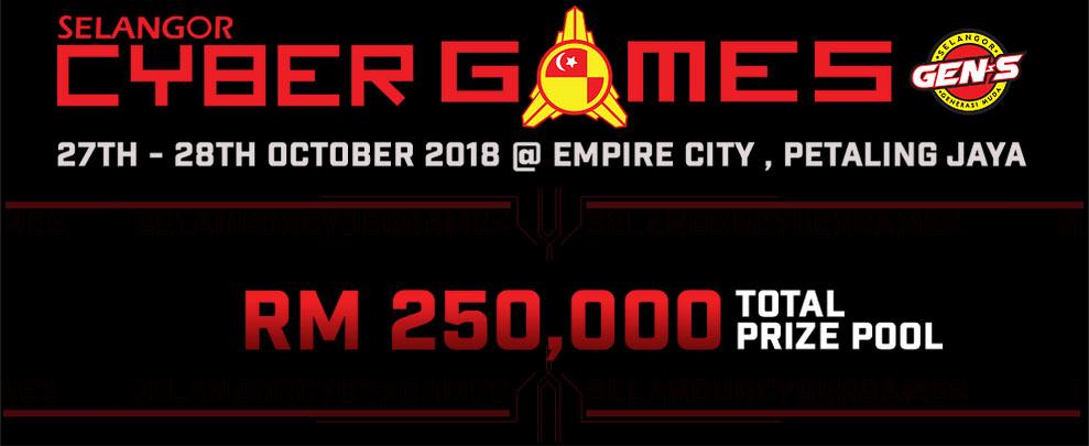 Kejohanan Selangor Cyber Games 2018 merupakan kejohanan tahunan paling berprestij di kalangan atlet & penggiat sukan elektronik di seluruh negara. Kredit - https://selangorcybergames.net