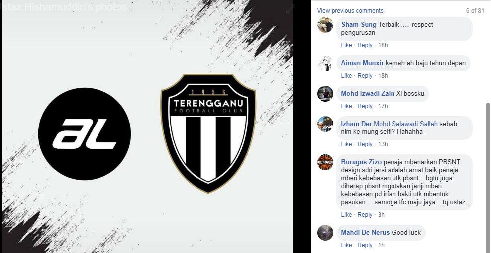 Rata-rata para penyokong pasukan bola sepak negeri Terengganu memberi maklum balas positif. Kredit - Facebook.com/alakh.hisham