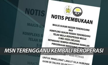 COVID-19: Majlis Sukan Negeri Terengganu Kembali Beroperasi