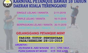 Karnival Petanque Bawah 18 Tahun Daerah Kuala Terengganu