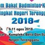 Kem Bakat Badminton Kementerian Belia dan Sukan Peringkat Negeri Terengganu 2018
