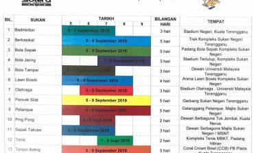 Jadual Pertandingan Sukan Negeri Terengganu (SUTERA)