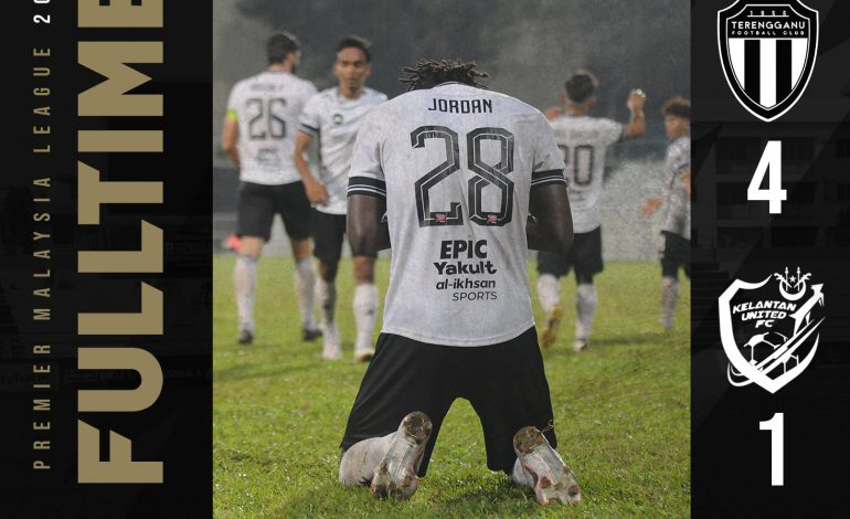 Sorotan Aksi Terengganu FC II vs Kelantan United FC